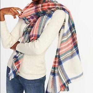 "🧣Old Navy ""Royal Stewart"" plaid blanket scarf"